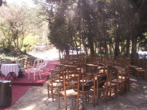 boda civil al jardí