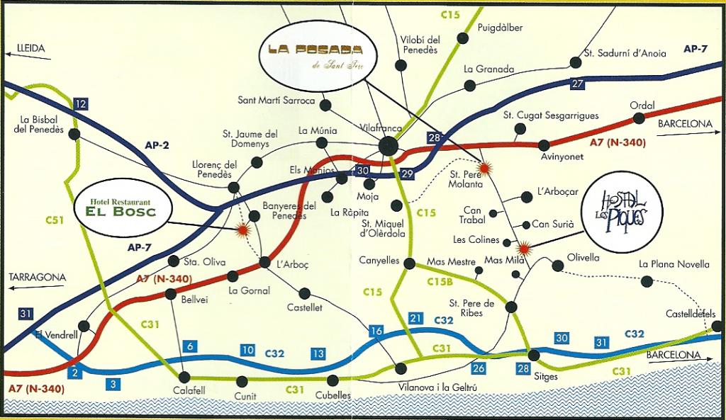Mapa Restaurant Posada i Restaurant Piques